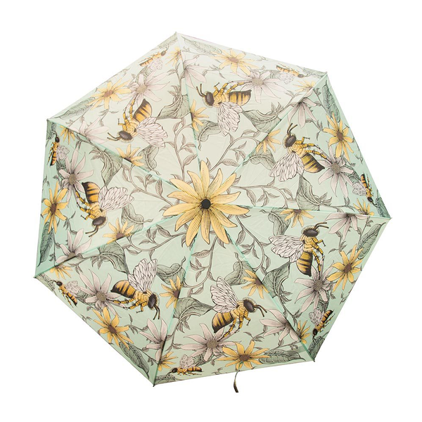 Foldable Umbrella Bees Light Blue