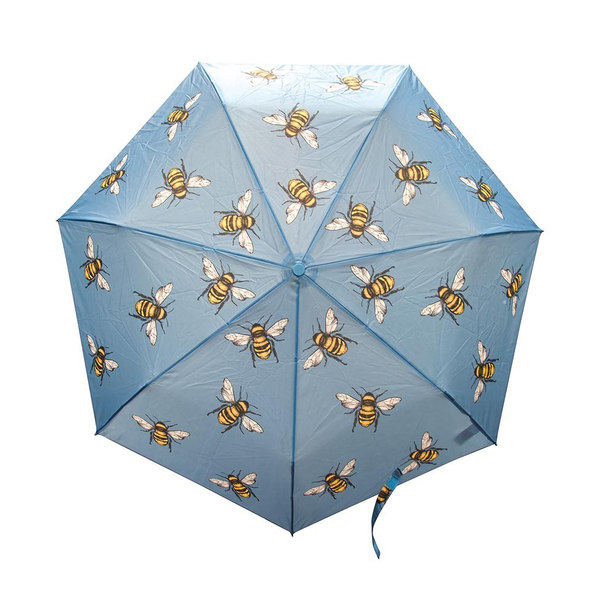 Foldable Umbrella Bees Navy