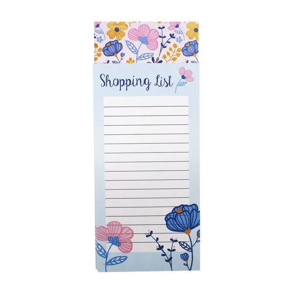 Magnetic Shopping List Floral