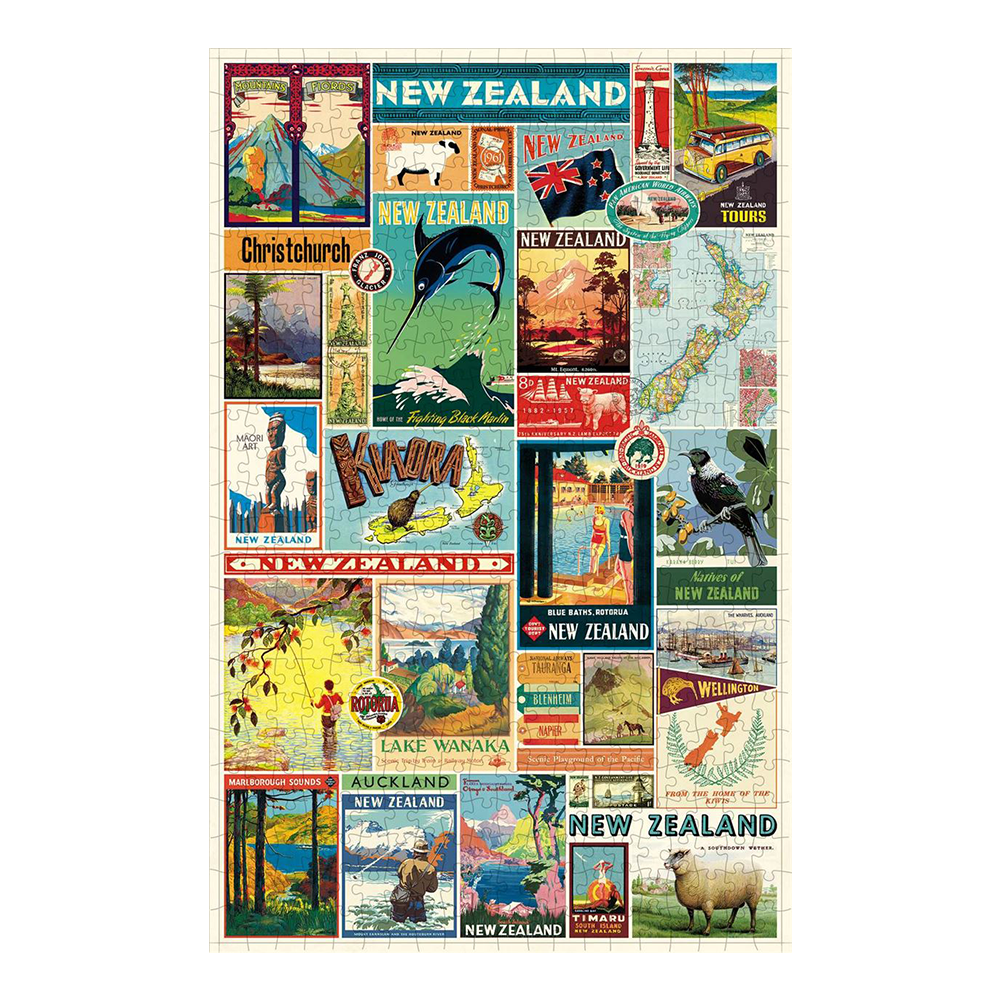 Cavallini 500 Piece Puzzle New Zealand Images