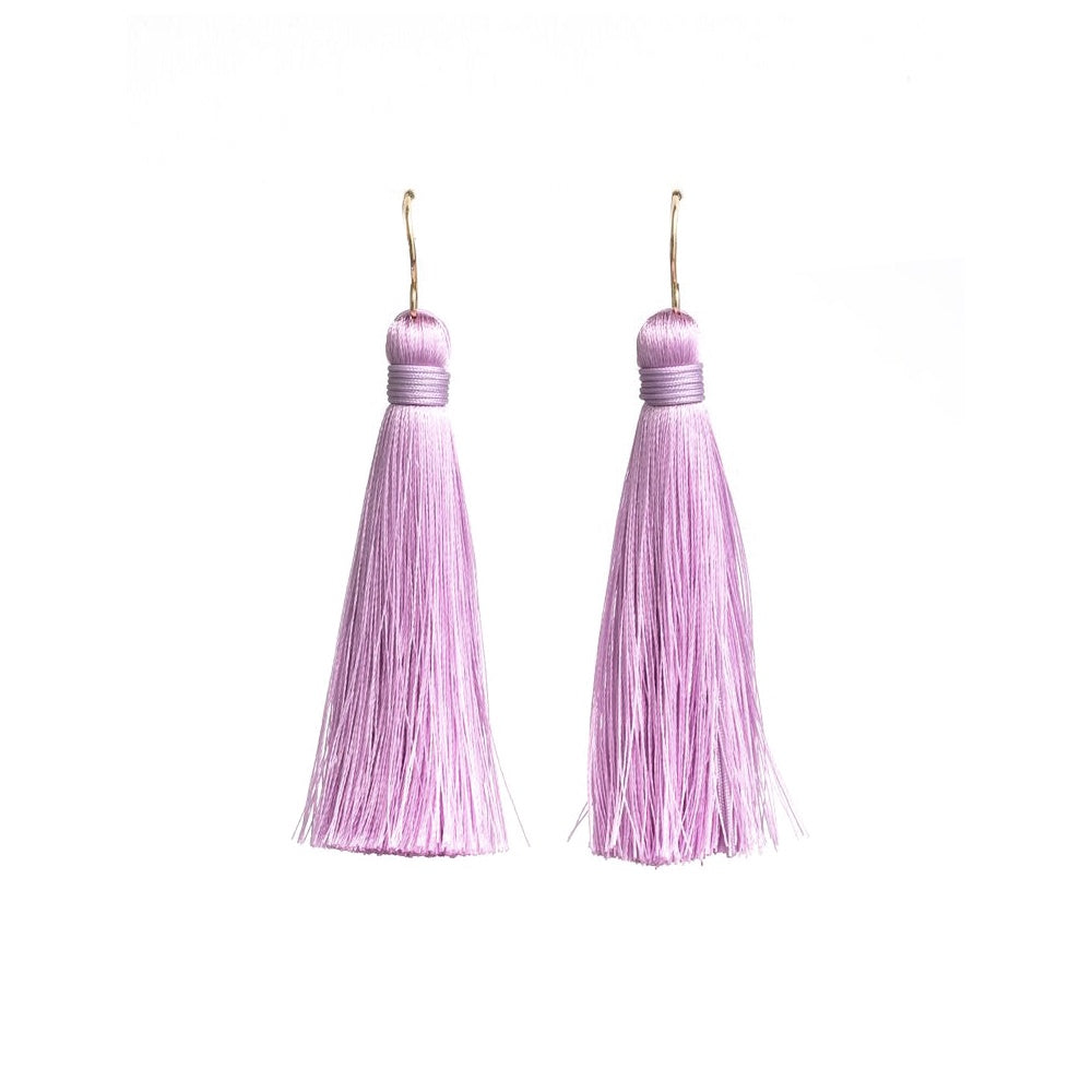 Iko Iko Fun Times Earrings Tassel Lavender Gold