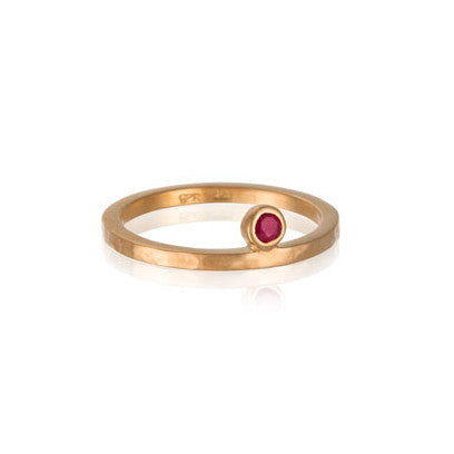 Kerry Rocks Celeste Ring Ruby Gold