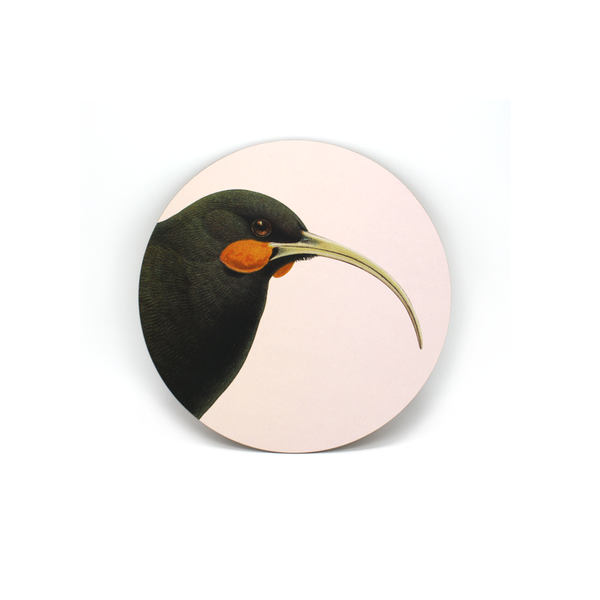 100% NZ Ceramic Coaster Huia