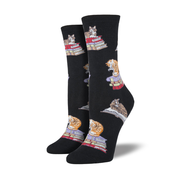 Socksmith Socks Womens Cats on Books
