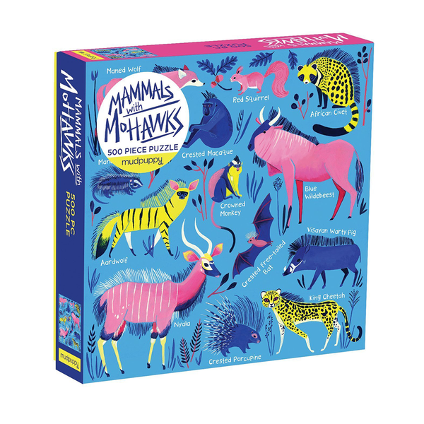 Mudpuppy 500 Piece Puzzle Mammals and Mohawks