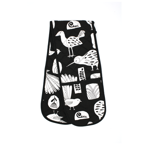 New Zealand Double Oven Mitt Native Birds