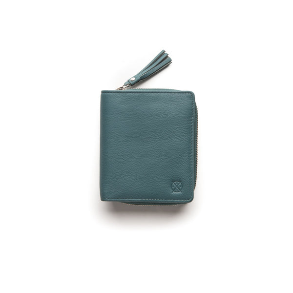 Stitch & Hide Leather Wallet Mia Teal
