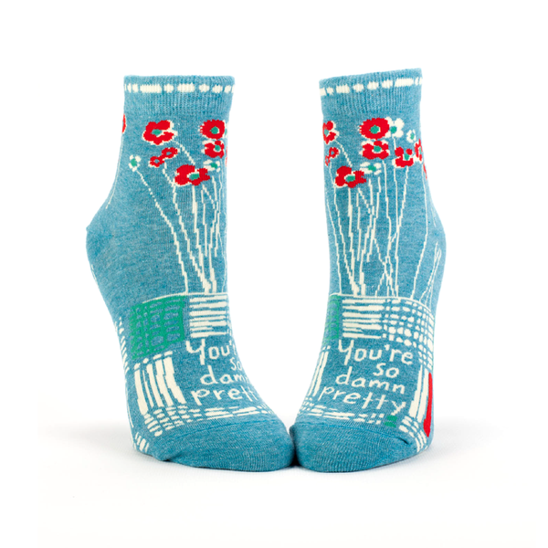 Blue Q Socks Womens Ankle Socks So Damn Pretty
