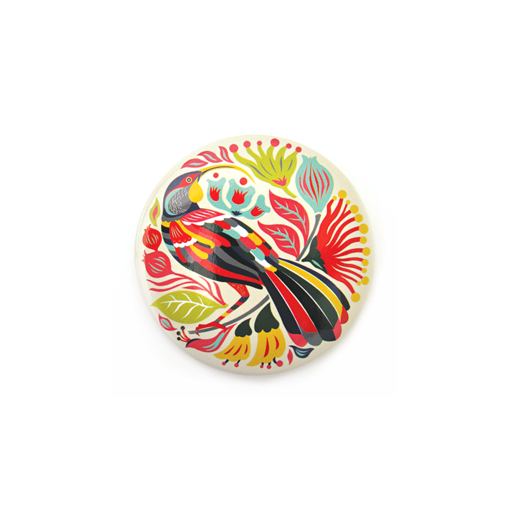 Tofutree Pocket Mirror Colourful Huia