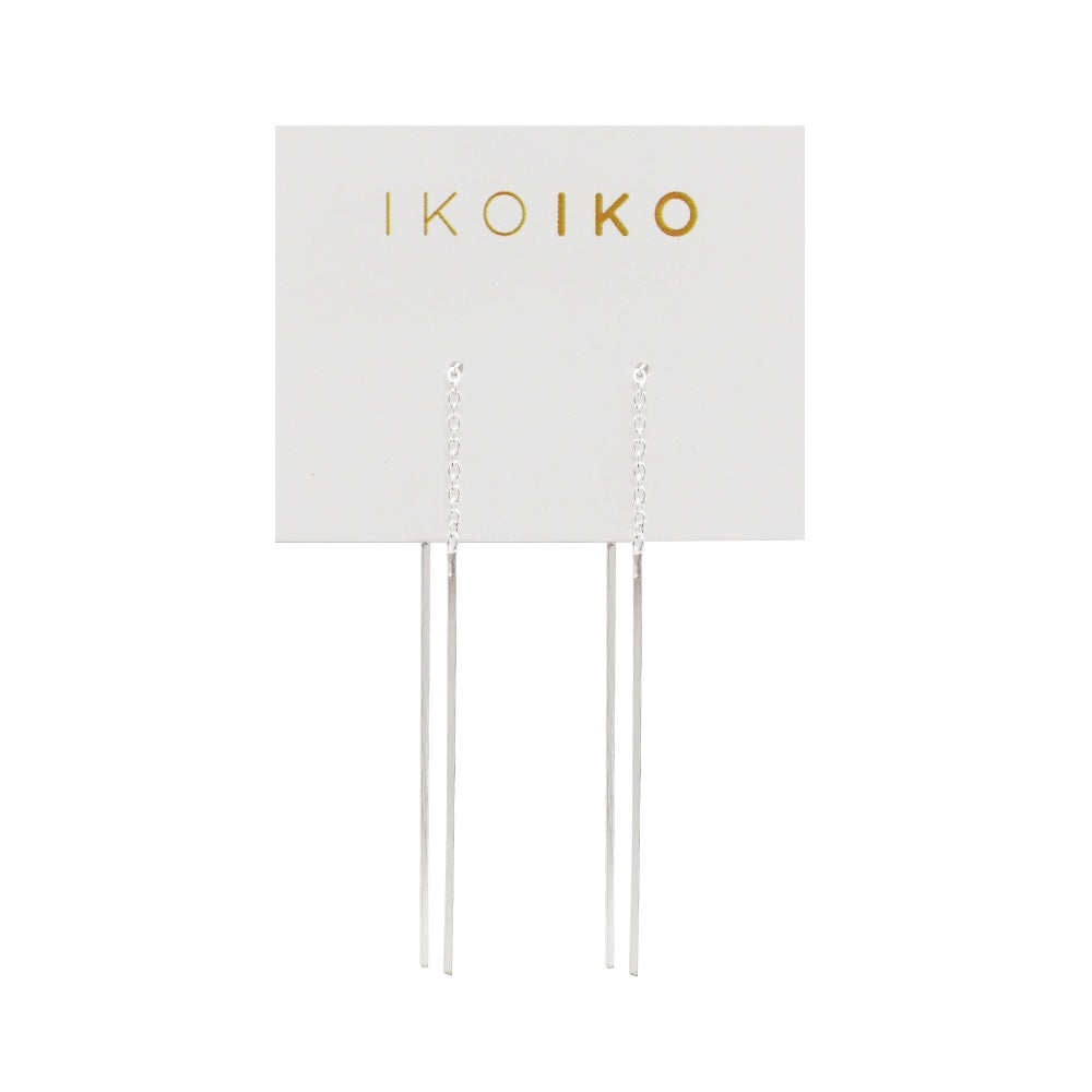 Iko Iko Earrings Thread Flat Bar