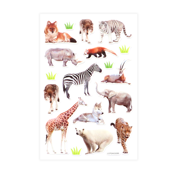 Wild Animals Puff Stickers