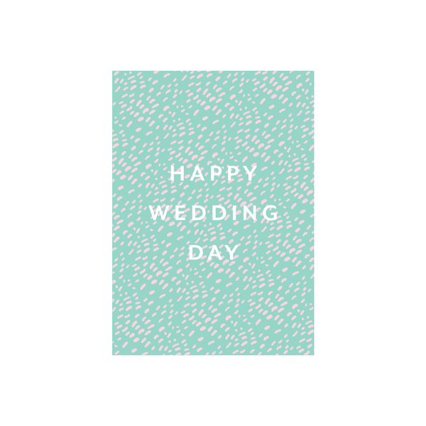 Iko Iko Pattern Card Happy Wedding Day