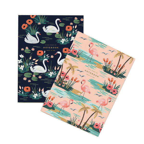 Rifle Paper Co Set of Two Notebooks Birds