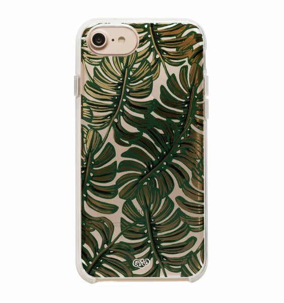 Rifle Paper Co iPhone 6/7/8 Hard Case Clear Monstera