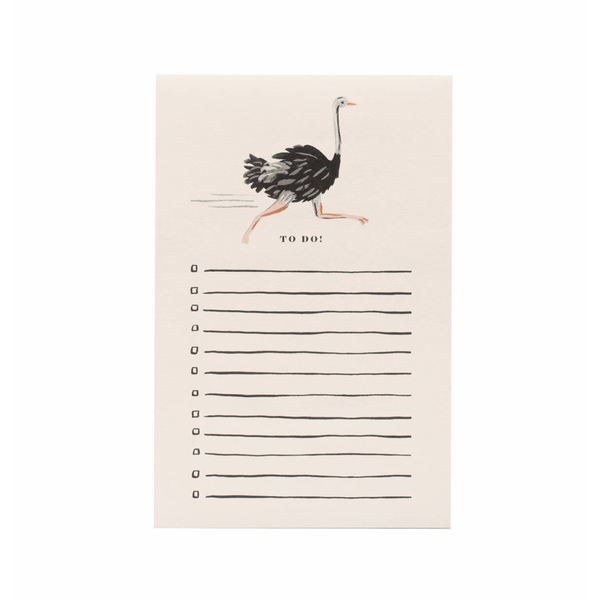 Rifle Paper Co Notepad Ostrich