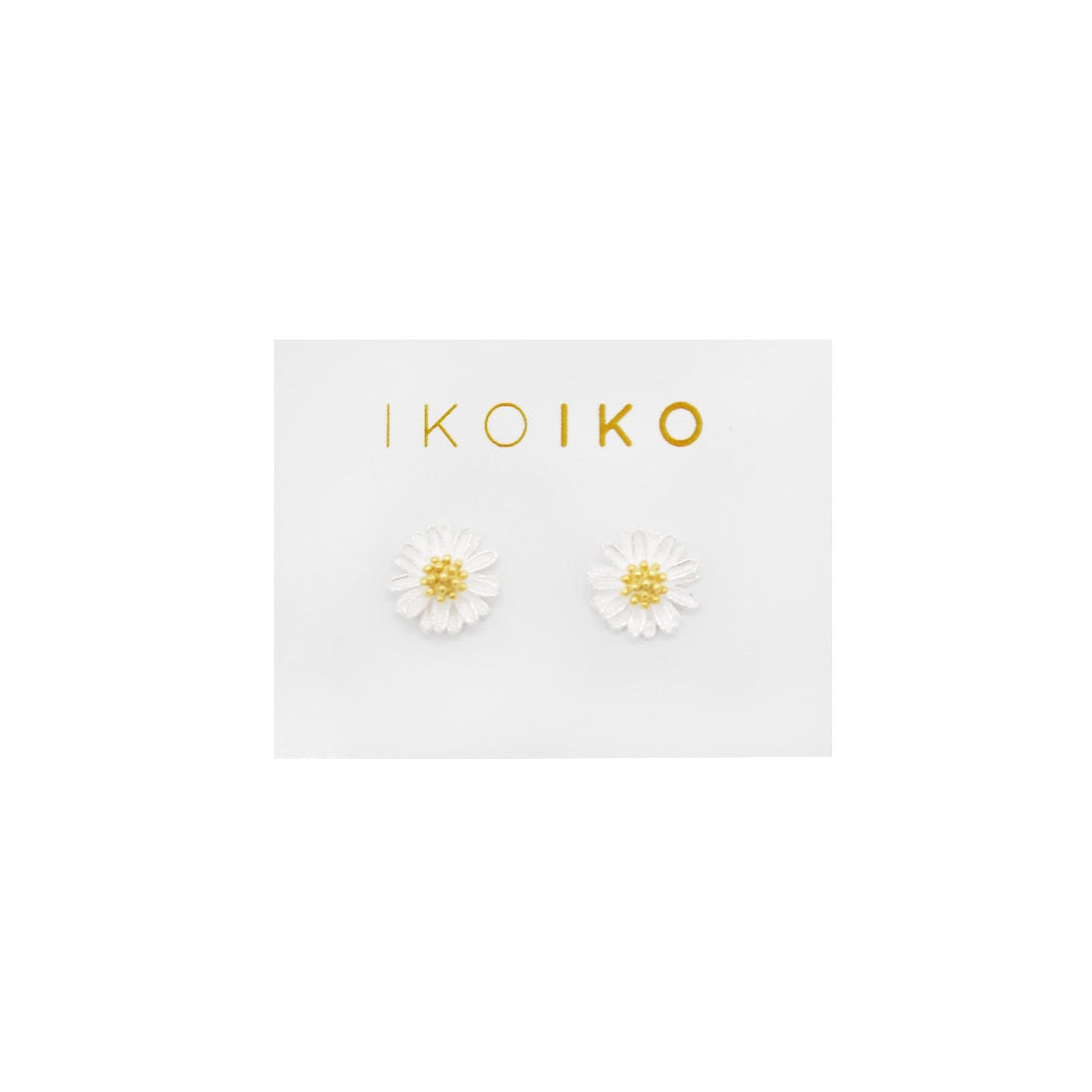 Iko Iko Studs Flower Silver with Gold