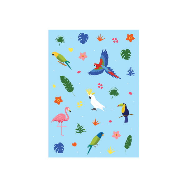 Iko Iko Animal Pattern Card Tropical