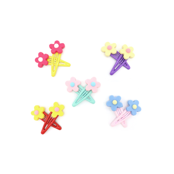Fun Times Hair Clip Jelly Flower Set of 2