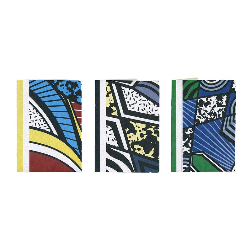 Papier Tigre Notebooks A6 Soft Cover Set of 3 The Three Patchworks