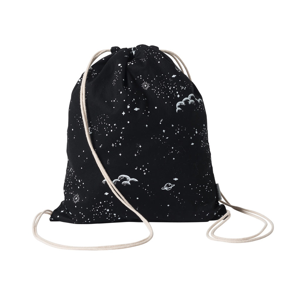 Citta Galaxy Drawstring Wash Bag Black Chalk