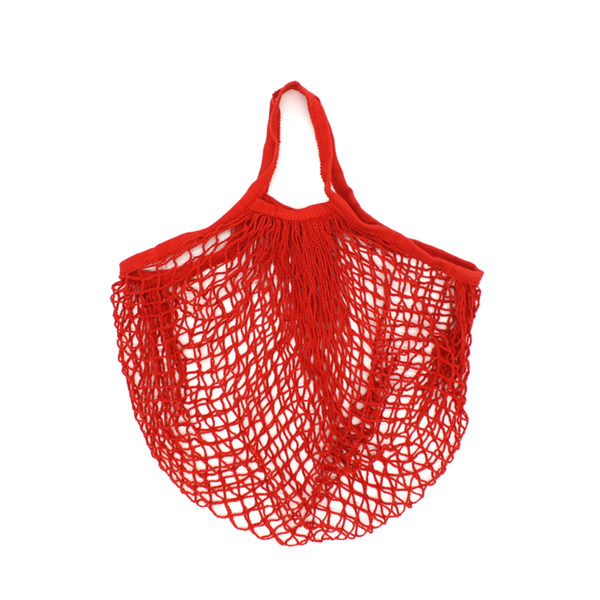 Iko Iko String Cotton Shopping Bag Red