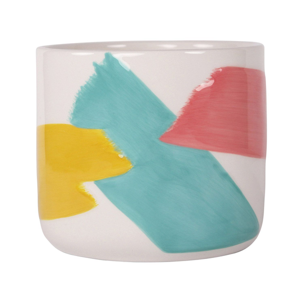 Brush Stroke Planter Colourful Small
