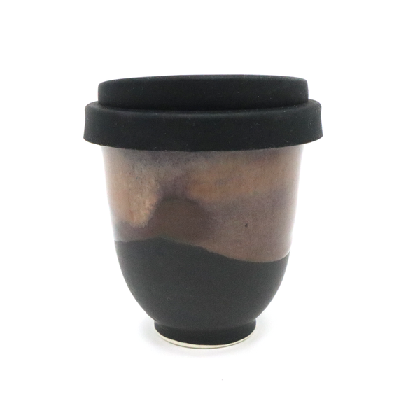 Westcoast Stoneware 8oz Reusable Cup Ruapehu Black