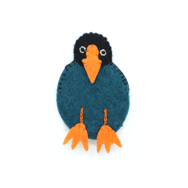 Woolen Native Bird Finger Puppet Takahi
