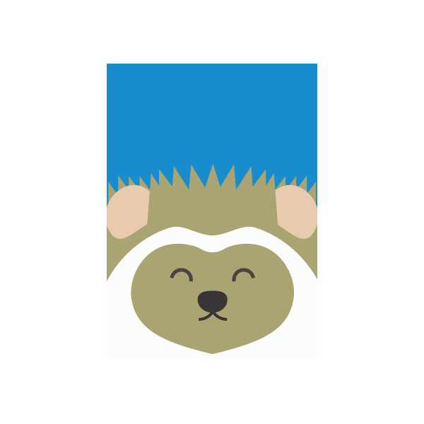 Iko Iko Kids Animal Card Hedgehog