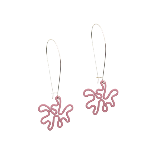 Penny Foggo Earrings Squiggles Pink