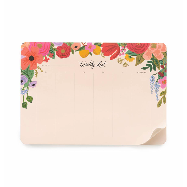 Rifle Paper Co Weekly Desk Pad Garden Party