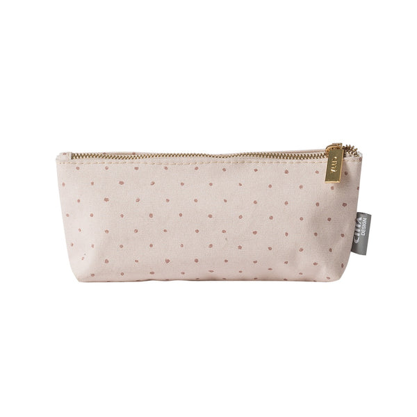 Citta Spot Cotton Wash Bag Small Mauve Nougat
