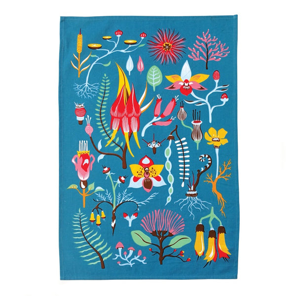Tofutree Tea Towel Secret Garden