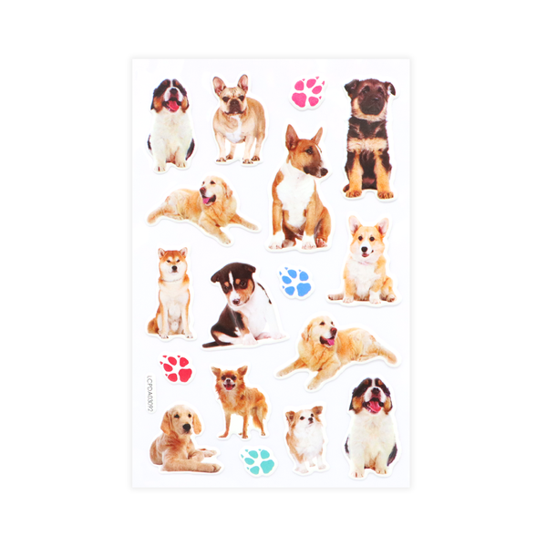 Dogs Puff Stickers