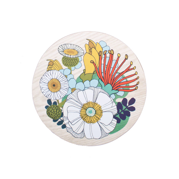 Folk Flowers Coaster