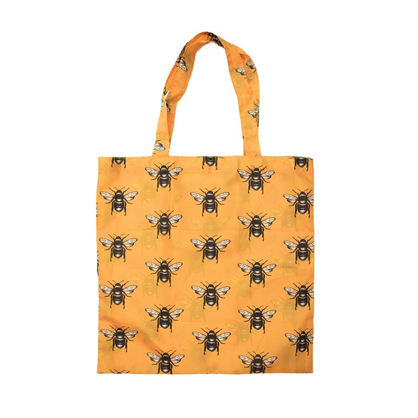 Foldable Shopper Tote Bag Insects Print Assorted