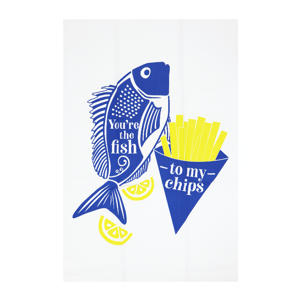 New Zealand Tea Towel Fish and Chips