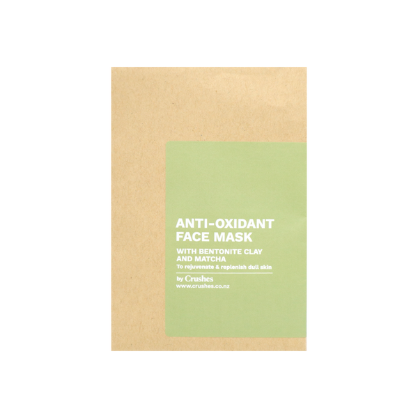 Crushes Face Mask Single Antioxidant Matcha