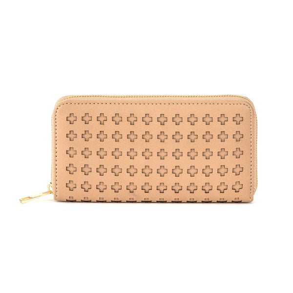 Stella + Gemma Wallet Cut Out Cross Tan