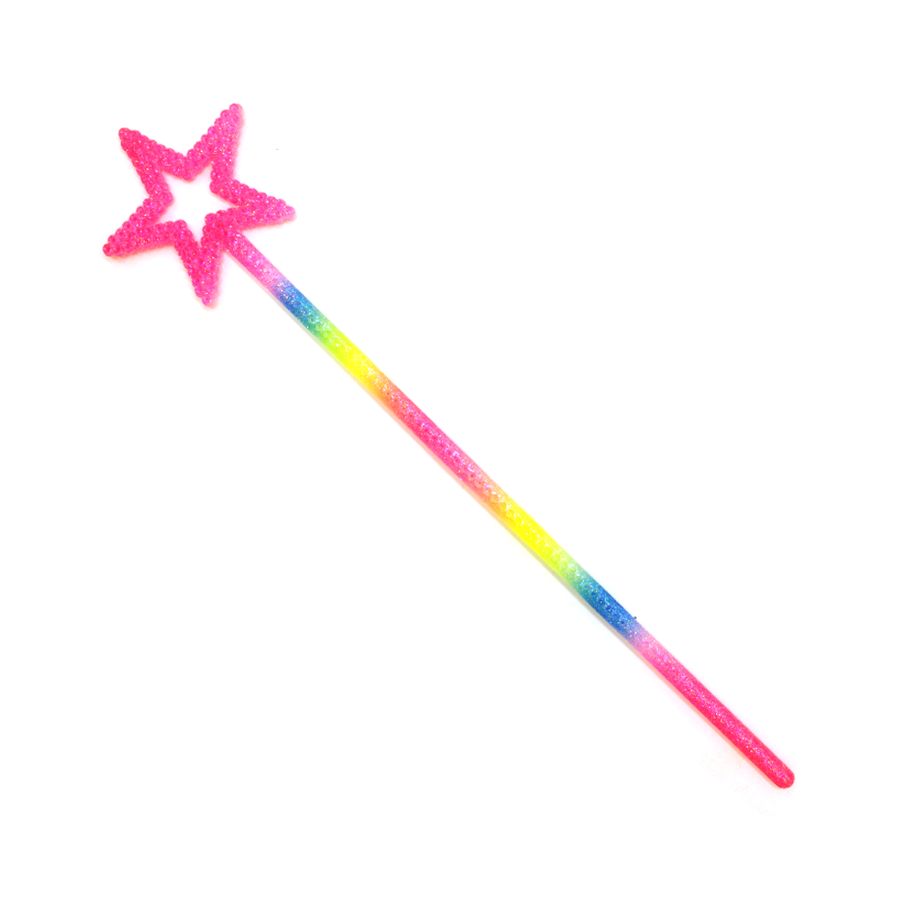 Star Wand Glittery Rainbow