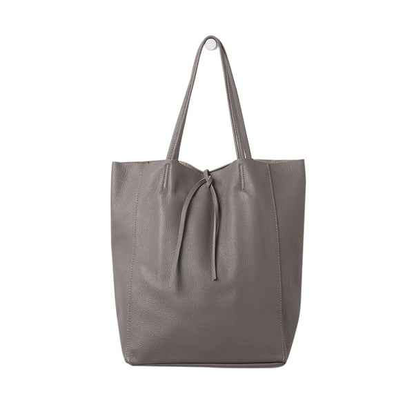 Citta Florence Leather Tote Bag Mushroom