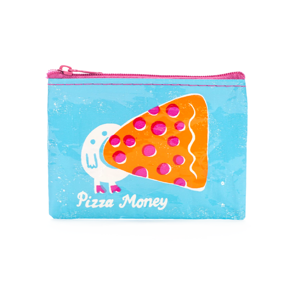 Blue Q Coin Purse Pizza Money