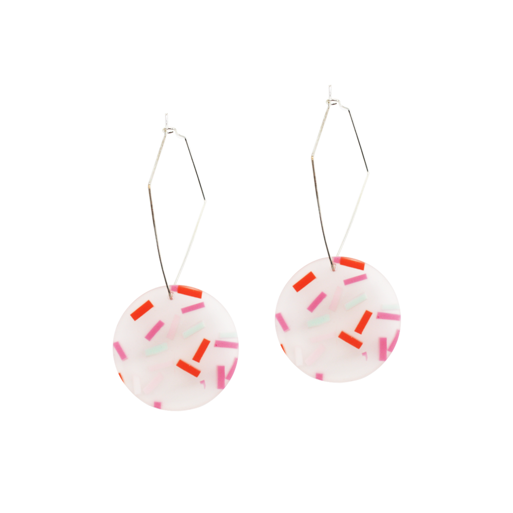 Penny Foggo Earrings Confetti Round