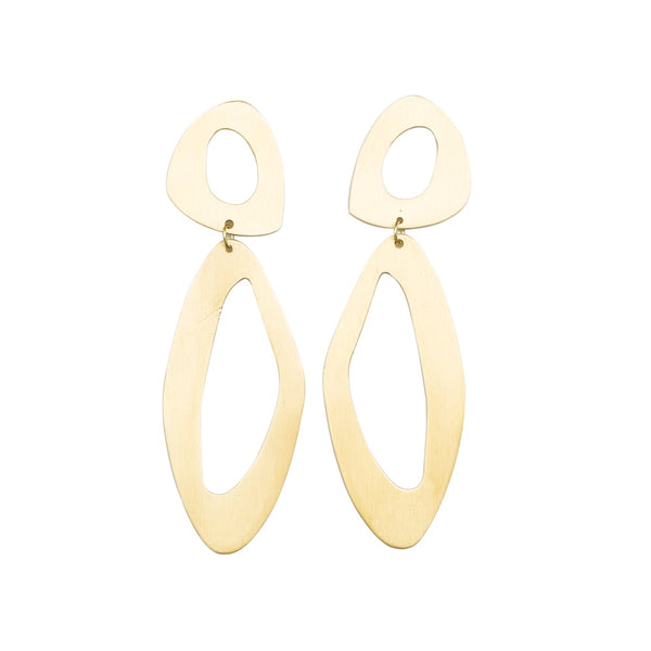 Stella + Gemma Earrings Hoop Opale