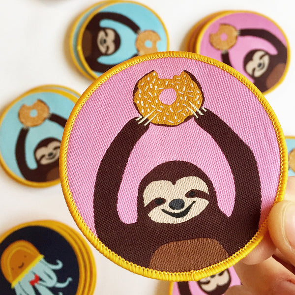 Alice Berry Pink Sloth Iron-on Patch