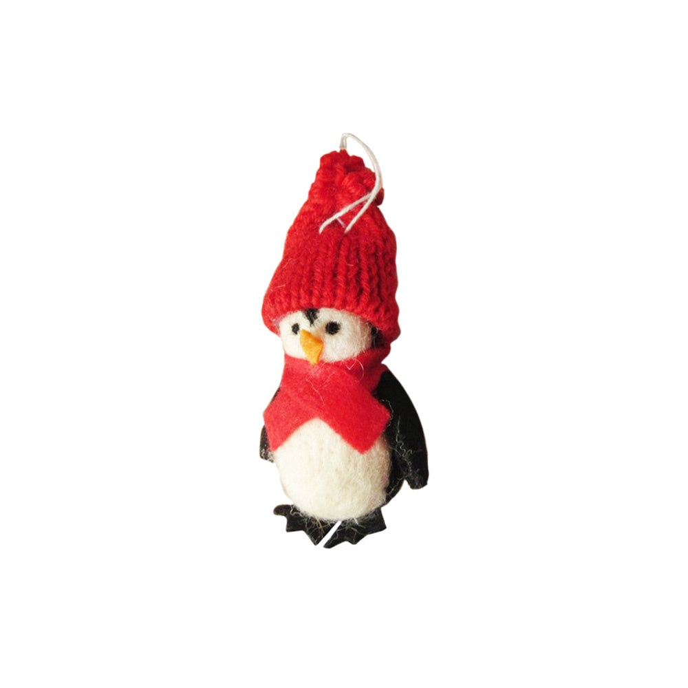 Felt Christmas Decoration Baby Penguin With Hat and Scarf