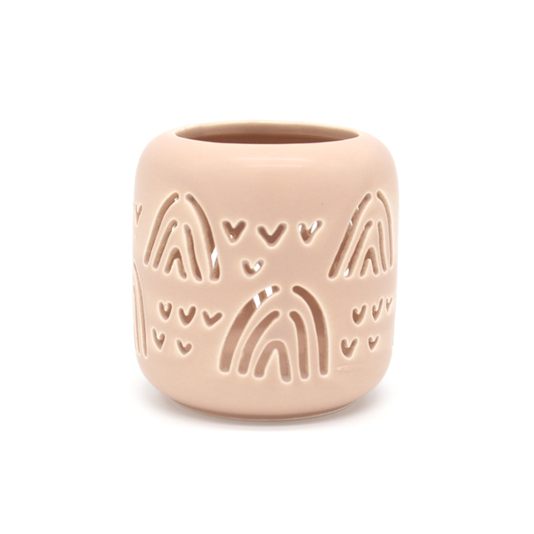 Rainbow Cut Out Tealight Holder Pink