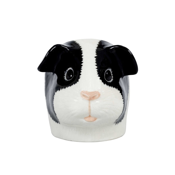 Quail Guinea Pig Black & White Face Egg Cup