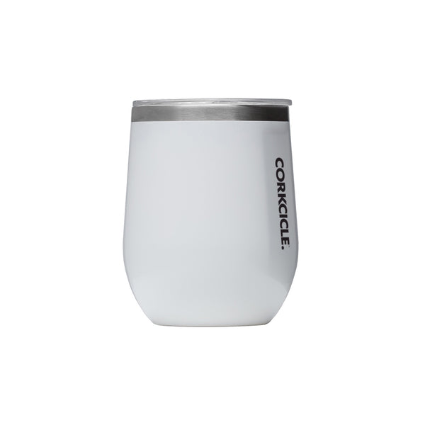 Corkcicle Stemless 12oz Gloss White