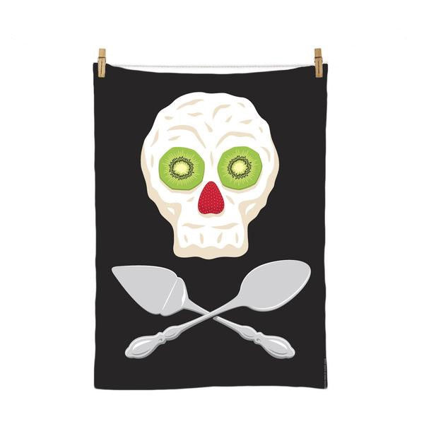 Glenn Jones NZ Tea Towel Pavlova Pirate